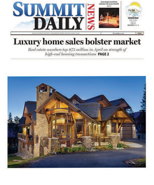 Summit county home builder in the news pinnacle mountain for Summit county home builders
