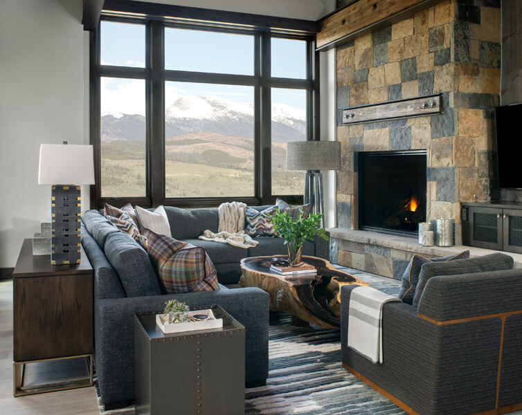 mountain modern living room