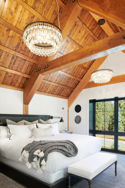 Mountain home bedroom
